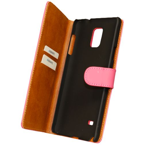 Mobiparts Premium Wallet Case Pink Samsung Galaxy Note 4