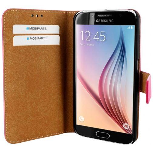 Mobiparts Premium Wallet Case Pink Samsung Galaxy S6