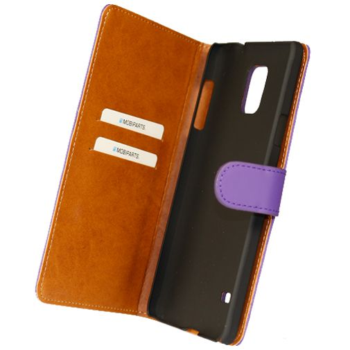 Mobiparts Premium Wallet Case Purple Samsung Galaxy Note 4