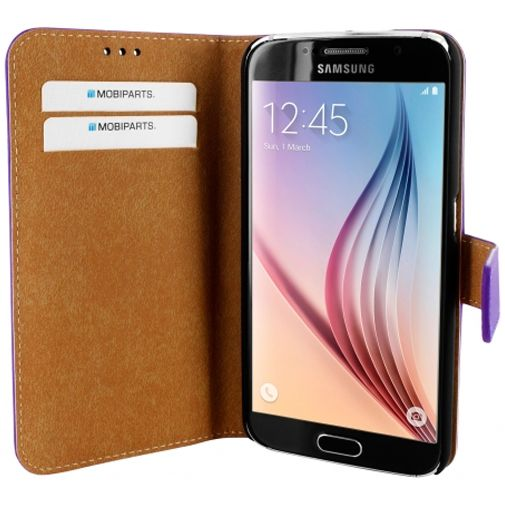 Mobiparts Premium Wallet Case Purple Samsung Galaxy S6