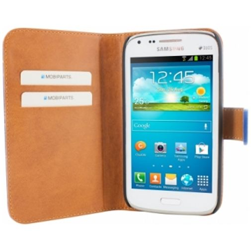 Mobiparts Premium Wallet Case Samsung Galaxy Core Blue