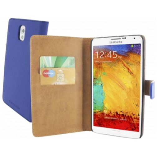 Mobiparts Premium Wallet Case Samsung Galaxy Note 3 Blue