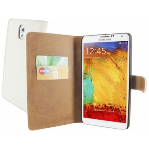Mobiparts Premium Wallet Case Samsung Galaxy Note 3 White