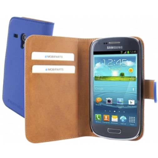 Mobiparts Premium Wallet Case Samsung Galaxy S3 Mini (VE) Blue