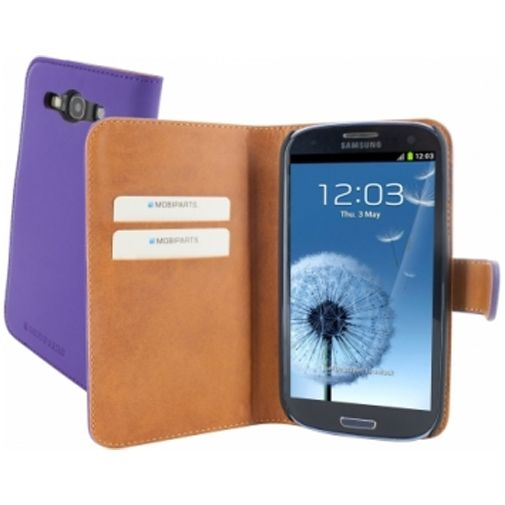 Mobiparts Premium Wallet Case Samsung Galaxy S3 (Neo) Purple