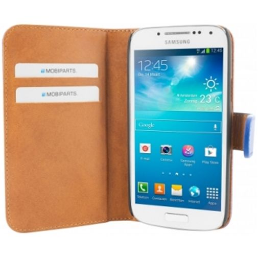 Mobiparts Premium Wallet Case Samsung Galaxy S4 Mini Blue
