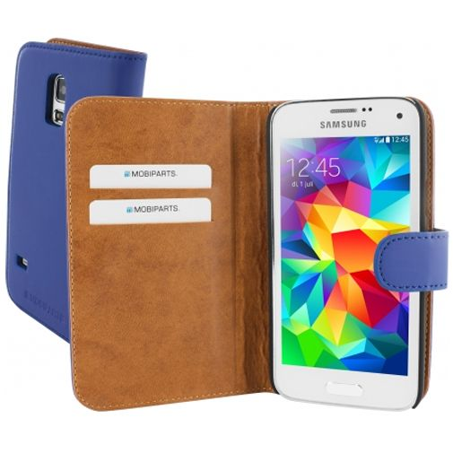 Mobiparts Premium Wallet Case Samsung Galaxy S5 Mini Blue