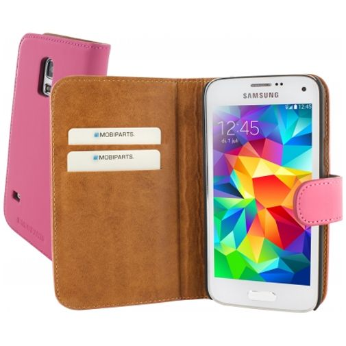 Mobiparts Premium Wallet Case Samsung Galaxy S5 Mini Pink