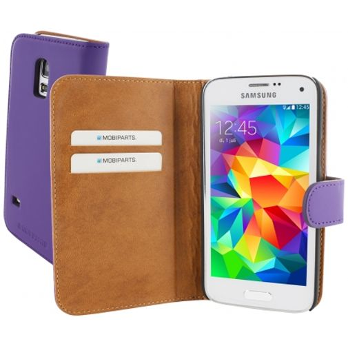 Mobiparts Premium Wallet Case Samsung Galaxy S5 Mini Purple