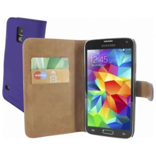 Mobiparts Premium Wallet Case Purple Samsung Galaxy S5/S5 Plus/S5 Neo