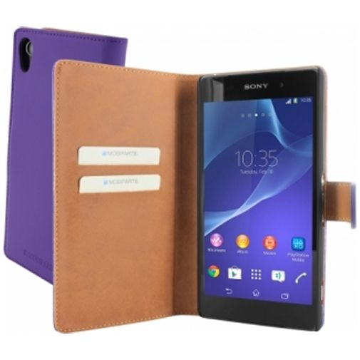 Mobiparts Premium Wallet Case Sony Xperia Z2 Purple