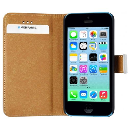 Mobiparts Premium Wallet Case White Apple iPhone 5C