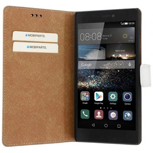 Mobiparts Premium Wallet Case White Huawei P8