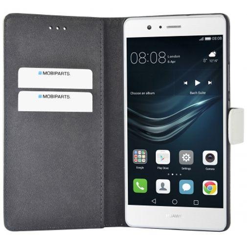 Mobiparts Premium Wallet Case White Huawei P9 Lite