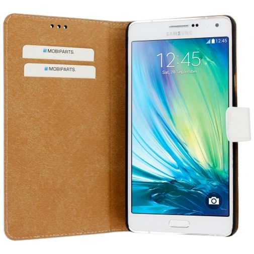 Mobiparts Premium Wallet Case White Samsung Galaxy A7