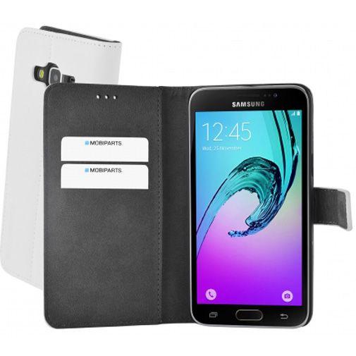 Mobiparts Premium Wallet Case White Samsung Galaxy J3 (2016)