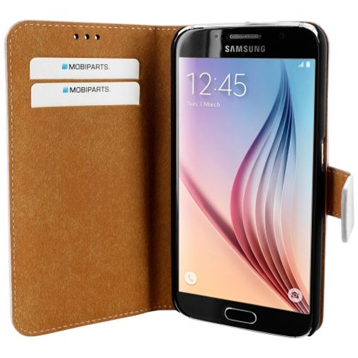 Mobiparts Premium Wallet Case White Samsung Galaxy S6