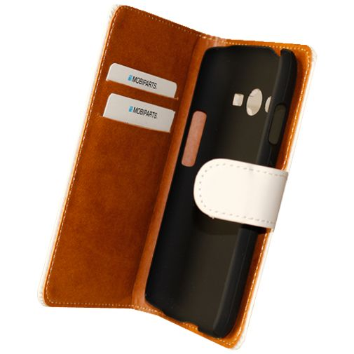 Mobiparts Premium Wallet Case White Samsung Galaxy Trend 2
