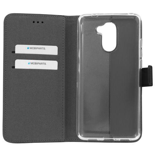 Mobiparts Premium Wallet TPU Case Black Huawei Y7