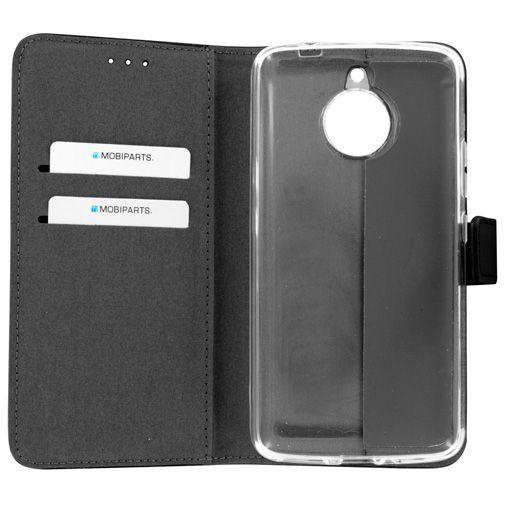 Mobiparts Premium Wallet TPU Case Black Motorola Moto E4 Plus