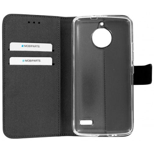 Mobiparts Premium Wallet TPU Case Black Motorola Moto E4