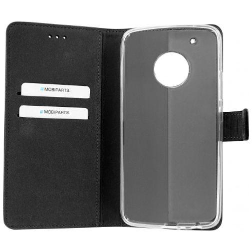 Mobiparts Premium Wallet TPU Case Black Motorola Moto G5 Plus
