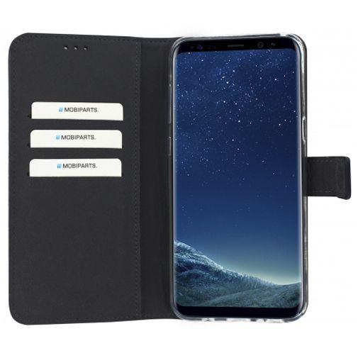 Mobiparts Premium Wallet TPU Case Black Samsung Galaxy S8+
