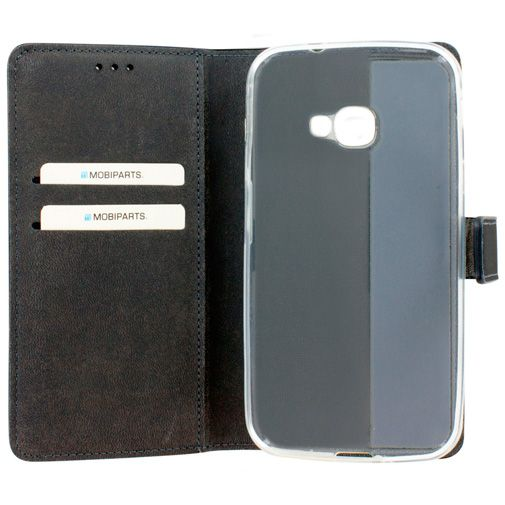 Mobiparts Premium Wallet TPU Case Black Samsung Galaxy Xcover 4
