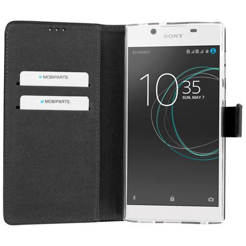 Mobiparts Premium Wallet TPU Case Black Sony Xperia L1
