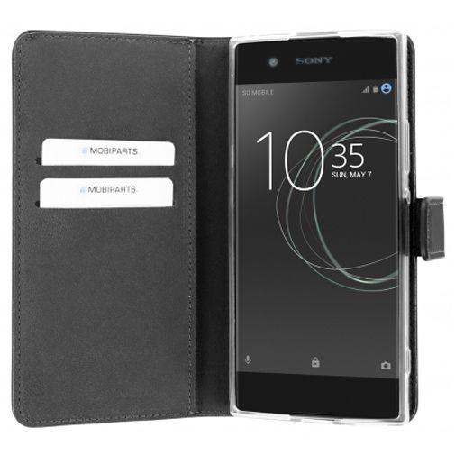 Mobiparts Premium Wallet TPU Case Black Sony Xperia XA1