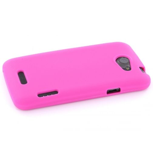 Mobiparts Siliconen Case HTC One X Pink
