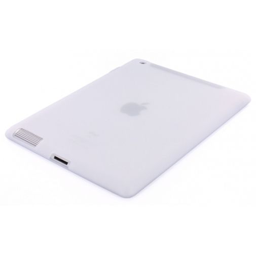 Mobiparts Siliconen Case Transparant/White Apple iPad 2/3