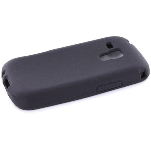 Mobiparts Siliconen Case Samsung S7562 Galaxy S Duos Black