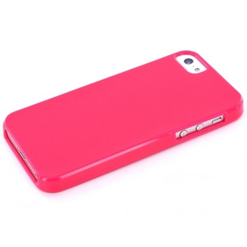 Mobiparts TPU Case Apple iPhone 5 Glossy Pink