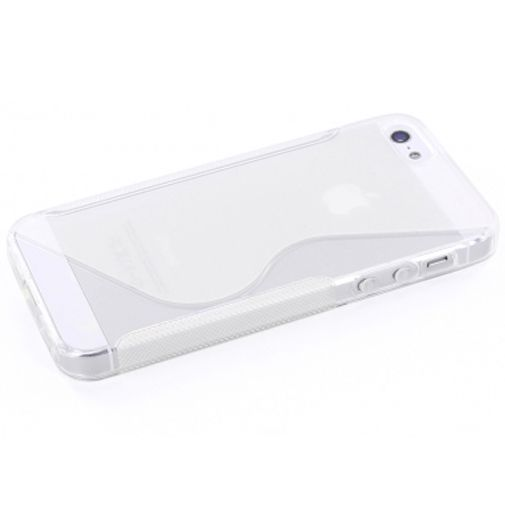 Mobiparts TPU Case Apple iPhone 5 S-Shape Transparant