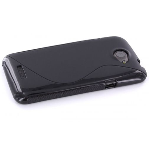 Mobiparts TPU Case HTC One X S-Shape Black