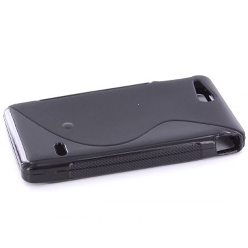 Mobiparts TPU Case Sony Xperia Go S-Shape Black
