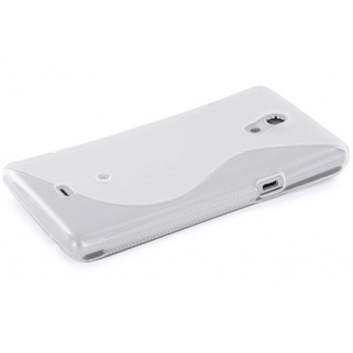 Mobiparts TPU Case Sony Xperia T S-Shape Transparant