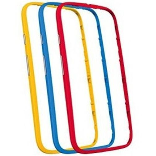 Motorola Bumper 3-Pack Blue, Red & Yellow New Moto E