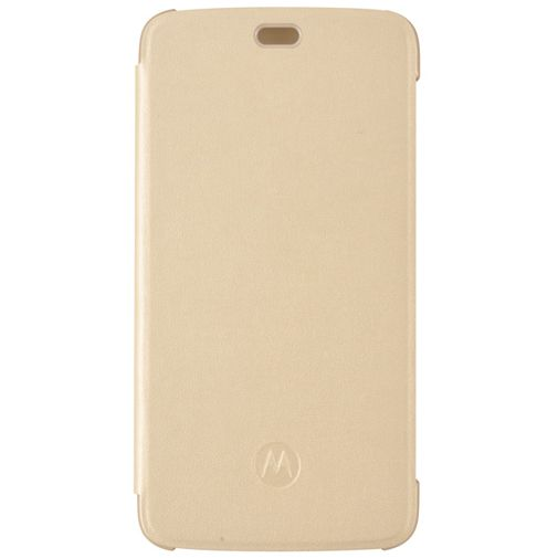 Motorola Flip Cover Gold Moto C Plus
