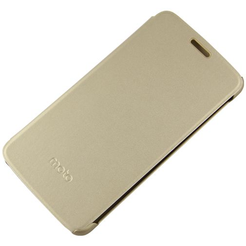 Motorola Flip Cover Gold Moto E4 Plus