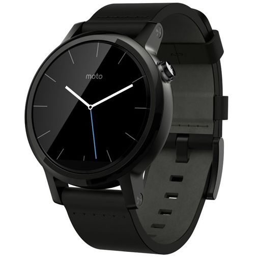 Motorola Moto 360 (2nd Gen) Leather Dali Black