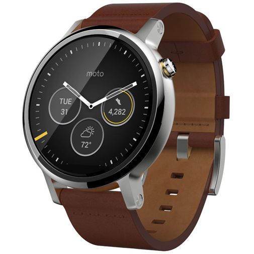 Motorola Moto 360 (2nd Gen) Leather Dali Cognac
