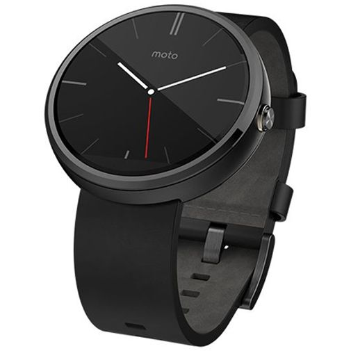 Motorola Moto 360 Leather Black