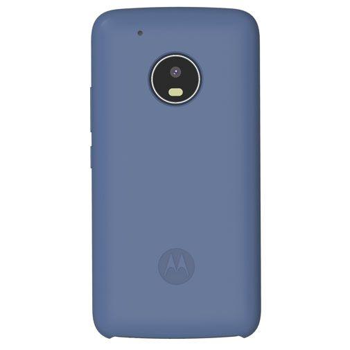 Motorola Silicone Back Cover Blue Moto G5 Plus