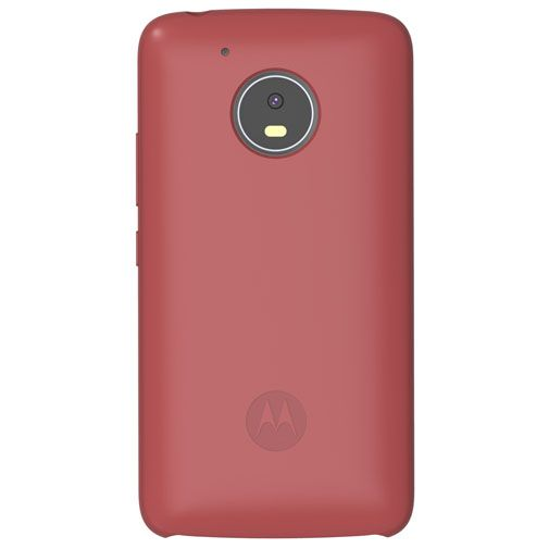 Motorola Silicone Back Cover Red Moto G5