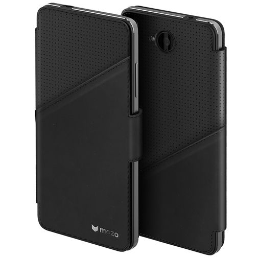 Mozo Book Cover Black Microsoft Lumia 650