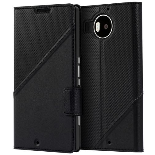 Mozo Book Cover Black Microsoft Lumia 950 XL