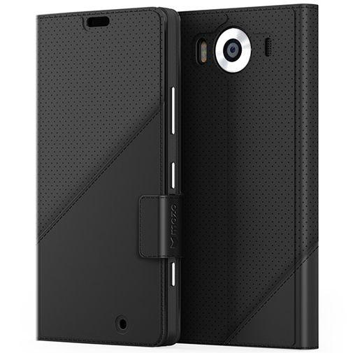 Productafbeelding van de Mozo Book Cover Black Microsoft Lumia 950