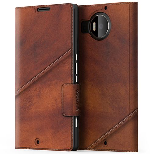 Mozo Book Cover Brown Microsoft Lumia 950 XL